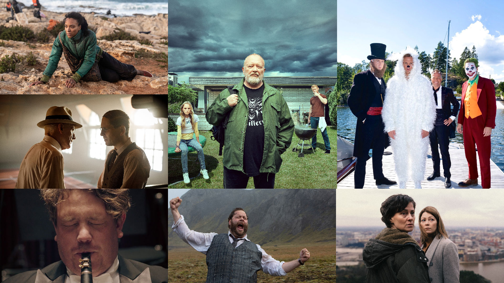 Mix of pictures from upcoming drama series within Nordic 12.